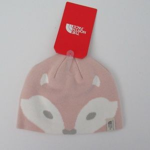 NWT North Face Friendly Faces Pink Beanie Hat NEW